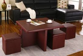 Kings Brand 5 Piece Cocktail Set Folding <b>Coffee Table 4</b> Storage ...