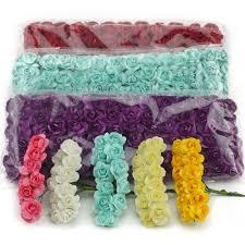 <b>144PCS</b>/lot <b>1.5cm Mini</b> Paper Rose <b>Artificial</b> Flowers Hands For ...