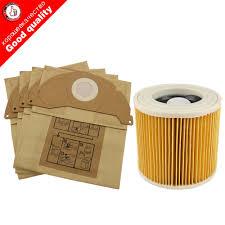 <b>6Pcs</b> paper bags+1Pcs dust <b>Hepa</b> filters for Karcher <b>Vacuum</b> ...