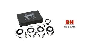 Galaxy Audio ESM3 <b>Single</b>-<b>Ear Headset</b> Mic with 4 Cables (<b>Black</b>)