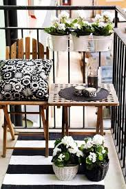 small apartment patio design near a budget furnished among vase plants decor balcony furnished small
