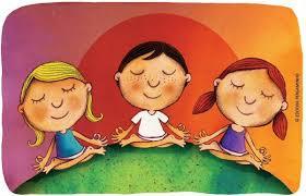 Resultado de imagem para criança meditando