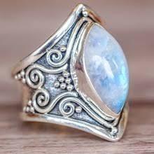 Винтажное <b>серебряное кольцо</b> с большим камнем для женщин ...