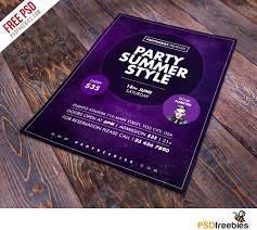 flyer templates teamtractemplate s summer party flyer psd template at psdcom z5mvcnuh