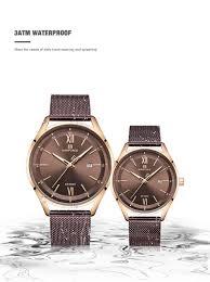 <b>Luxury</b> Brand NAVIFORCE <b>Lover's Watches</b> Men Women Simple ...