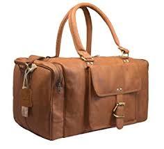 Leaderachi Men's Tan <b>Leather</b> Travel Duffle Bag - <b>La Spezia</b> ...