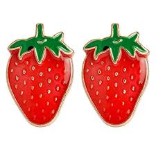 Charmart Black <b>Cat</b> with <b>Strawberry</b> Lapel Pin 2 Piece Set Enamel ...