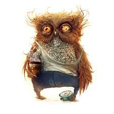 The Brown Owl With Coffee Print <b>Diamond</b> Embroidery <b>DIY</b> ...