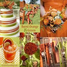 ideas burnt orange: burnt orange and green wedding colors exclusivelyweddings
