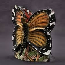 african butterfly vase by ardmore large butterfly on each side of vase ardmore 3 fung shui good