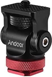 Andoer <b>180</b>° Rotary Mini Ball Head Ballhead <b>Hot Flash</b> Shoe Mount ...