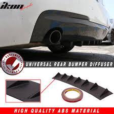 """<b>33</b>"""" <b>x6</b>"""" <b>Ikon</b> Style Universal Rear Bumper Lip Diffuser 7 Fin Textured ..."""