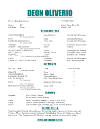 musical audition resume