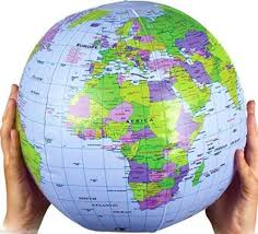 Henbrandt Inflatable Globe <b>Blow Up Globe World</b> Map Atlas Ball ...