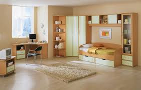 astounding teenage bedroom design displaying corner wardrobe which has open storage shelves on the left side and smooth sanded oak wood computer desk be astounding small black computer