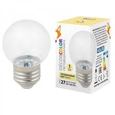 <b>Лампа</b> декоративная светодиодная <b>Volpe</b> (ul-00005807) <b>e27 1w</b> ...