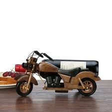 <b>2019</b> Creative Motorcycle <b>Wooden Red</b> Wine Frame Piece <b>Solid</b> ...