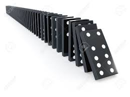 domino effect stock vector illustration and royalty domino effect 3d render of a row of black dominos falling stock photo