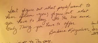 writing a journal dawn wink dewdrops barbara kingsolver quote