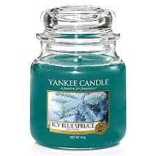 <b>Свеча</b> в стеклянной банке - Yankee Candle Icy Blue Spruce на ...