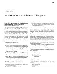 appendix f developer interview research template emerging page 119