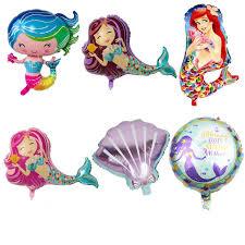 1pc Mermaid <b>balloon</b> foil material animal a <b>little mermaid</b> helium ...