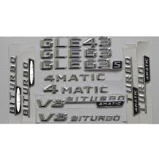 <b>Chrome</b> Shiny Silver Car Trunk Rear Number Letters Badge ...
