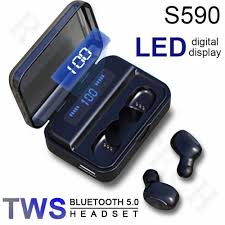 China <b>S590</b> Digital Display <b>Tws Bluetooth</b> Stereo Earbuds Touch ...
