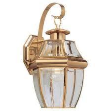 lancaster wall mount 1 light outdoor polished brass fixture brass lighting fixtures