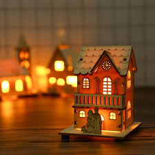 Shao Small <b>Wooden LED</b> House <b>Lighted Cabin</b> For Party Wedding ...