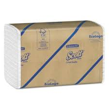 Scott 01510 <b>White C</b>-Fold Paper Towels, 2,400 Towels KCC01510