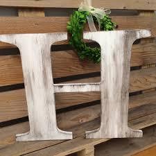 wood letter decor