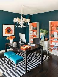 blue and orange home office design blue home office