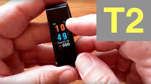 T2 Plus COLOR <b>IP67</b> Waterproof <b>Smart</b> Band Blood Pressure ...