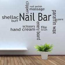 Nail Bar <b>Wall Sticker</b> Quote Nail Bar Collage Mural <b>Wall Decal</b> ...