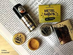 """Gėlėta kosmetinė: <b>Essence</b> """"Metal Shock"""" nail powders (01 mirror ..."""