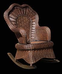 Serpentine <b>Rocking Chair</b> - <b>Brown</b> — Spice Islands Wicker