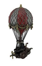 <b>Hand Painted Steampunk</b> Hot Air Balloon Fantasy Statue ...