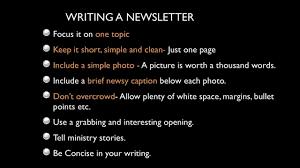 how to write a newsletter how to write a newsletter