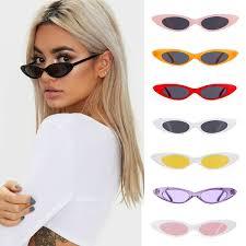2018 Small Oval Sunglasses <b>Women Cat</b> Eye Brand Designer ...