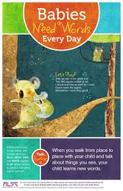 babies need words every day talk sing play association babies need words talk poster 1