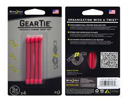 <b>Гибкие стяжки Nite</b> Ize Gear Tie 3' 4 шт. GT3-4PK-10 – купить ...
