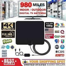 [980 Miles] Clear <b>Indoor Digital</b> TV <b>HDTV Antenna</b> [2019 Latest ...