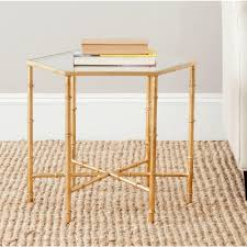 safavieh kerri gold end tablefoxb  the home depot