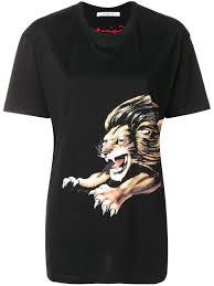 <b>Givenchy</b> - <b>футболка</b> с принтом льва - для женщин - Хлопок ...