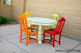 Colored Dining Room Sets Dining Room Table Transformation