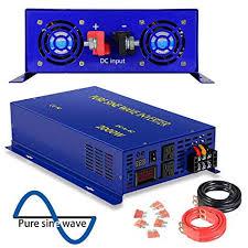 Amazon.com: <b>2500</b> Watt Pure Sine Wave Inverter <b>24V</b> DC to 120V ...