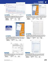 business forms receipts delivery receiving tops  click image to browse print catalog page