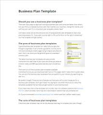 Business Plan Template   Bplans Template  A brilliant business plan template