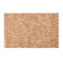 dwell bathroom cabinet: wooden indoor bathmat natural   wooden indoor bathmat natural